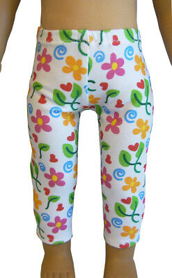 "DOLL CLOTHES SEW BEAUTIFUL For 18"" American Girl Colorful Floral Leggings"
