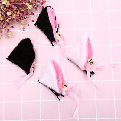 Cosplay Party Cat Fox Long  Ears Lovely Bells Costume Hair ClipsHairAccessory