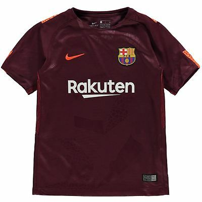 df1ff6b408d Nike Barcelona Third Jersey 2017 2018 Juniors Maroon Crimson Football  Soccer Top