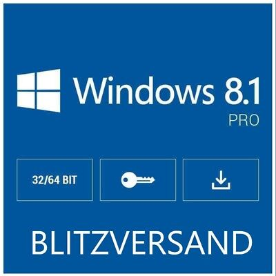 Microsoft Windows 8.1 Pro Key 32/64 Bits One key Per Person.LIFETIME
