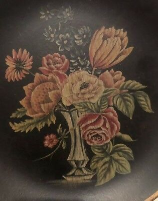 Large Vintage Decorative Plate With Flowers-collectible Pottery-Hand Painted