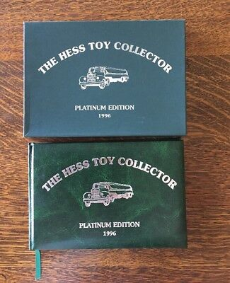 """VINTAGE """"THE HESS TOY COLLECTOR"""" PLATINUM EDITION 1996 BOOK #770 of 5000"""
