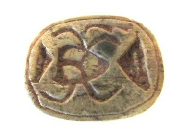 ANCIENT Egyptian SCARAB Beetle Heiroglyph ANTIQUITIE BEAD BEETLE Amulet SEAL