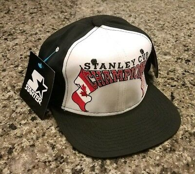 Vintage New Jersey Devils 1995 Stanley Cup Champs Blank Snapback Hat NWT  Starter b6e66f6d0