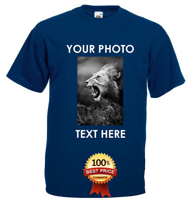 Personalised T-Shirt Custom Image Picture / Text Printed Valentines Any Occasion