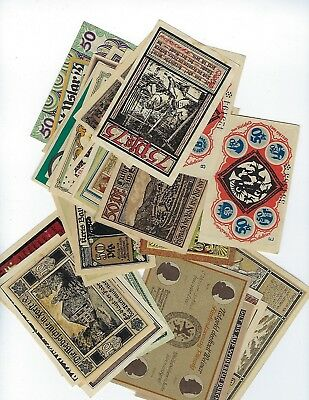 Germany NOTGELD - Lot of 50 Notes all Different