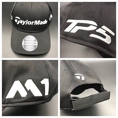 NEW TaylorMade M1/TP5 LiteTech Tour Black Adjustable Hat/Cap