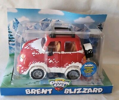 Chevron Car Brent Blizzard New in Pkg 2006 Gas Collectible Snowboard & Boots