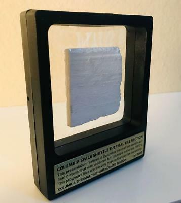 Limited Edition Columbia Space Shuttle Thermal Tile 2-View Frame Presentation