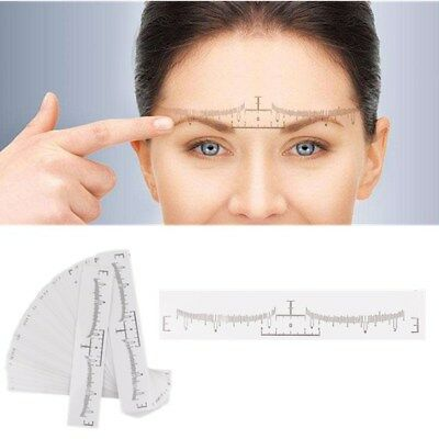50Pc Disposable Eyebrow Ruler Sticker Microblading Tattoo Measure Tool Permanent