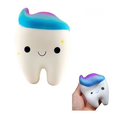 12cm Kawaii Teeth Cake Scented Squishy Slow Rising Squeeze Toys For Kids Gift US