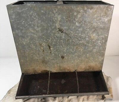 Vtg GALVANIZED No. 92 SANITARY FEEDER Hog CHICKEN FARM Nelson