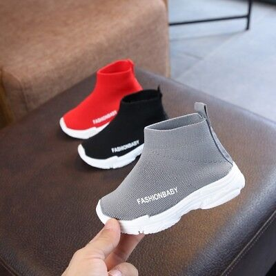 Toddler Infant Baby Kids Boy Girl Mesh Letter Ankle Boots Sports Shoes Sneakers
