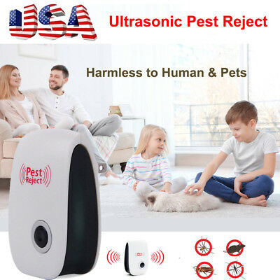 Ultrasonic Pest Repeller Control Reject Mosquito Rodent Insect Bed Bug US Plug
