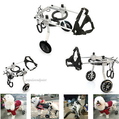 Stainless Steel Cart Pet/Dog Wheelchair for Handicapped Small/Medium/large Dog