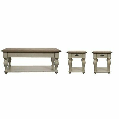 3 Piece French Country Coffee Table Set With Of 2