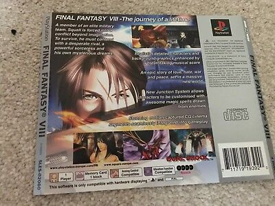 *BACK INLAY ONLY* Final Fantasy VIII 8 Back Inlay  PS1 PSOne Playstation