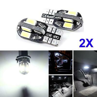 2x Canbus T10 194 168 W5W 5630 8 LED SMD White Car Side Wedge Light Lamp Buld WT