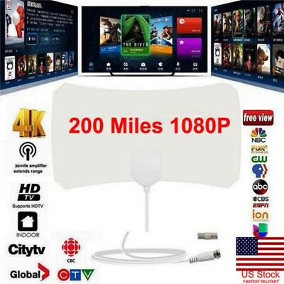200 Mile Range 1080P Antenna TV Digital HD Skylink 4K Antena Digital Indoor HDTV