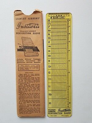 Instanta Perforation Gauge by Stanley Gibbons. Second hand.