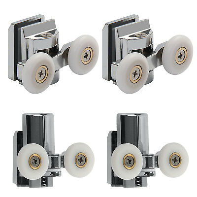 4x 23mm Twin Zinc Alloy Shower Door ROLLERS/Runners/Wheels Top&Bottom New