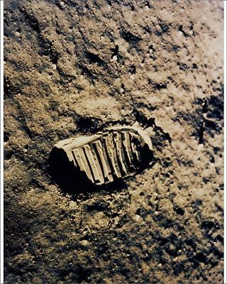 "10""x8"" (25x20cm) Print of Astronaut footprint on the moon from"