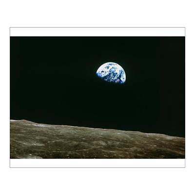 "10""x8"" (25x20cm) Print of Earthrise over Moon from Apollo 8 from"