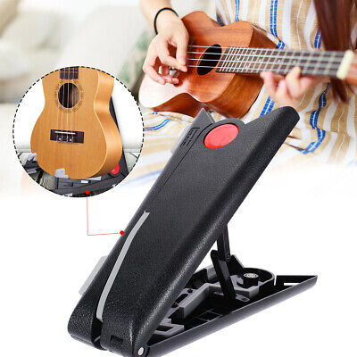 Folding Guitar Stand Foldable A-frame Music Electric Ukulele Bass Guitar Black