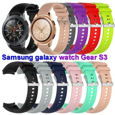 Strap Silicone Wrist Band For Samsung Galaxy Gear S3 Frontier 42mm 46mm Watch