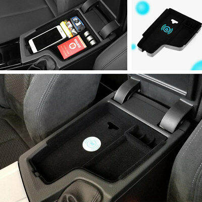Car Interior Center Console Wireless Charging Storage Box For BMW 3 series 12-17