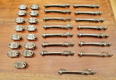 15 Reclaimed Antique Country House Stair Carpet Grips / Clips - 1920's Art Deco