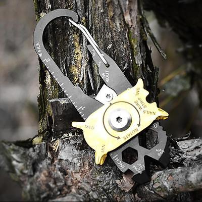 Multifunctional Mini Outdoor Key Gadget EDC Camping Tool Carabiner Pocket Tool