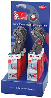 Knipex 54045 Counter Top Display of 10 x 250mm Cobra Waterpump Pliers
