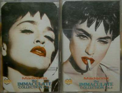 """MADONNA""""IMMACULATE COLLECTION vol.1+vol.2"""" 2 RUSSIA MUSIC CASSETTE SEALED"""