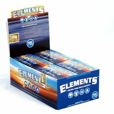 Elements 300 Rolling Paper - 8 PACKS - Natural Ultra Thin Rice 1.25 1 1/4