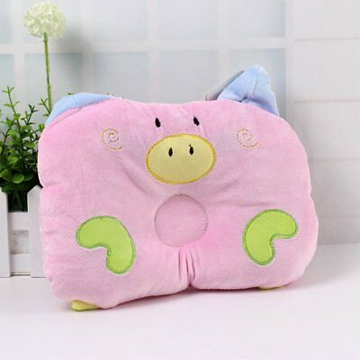 Baby Infant Cot Pillow Preventing Flat Head Neck Syndrome newborn Girl Boy QU