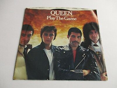 """QUEEN Play The Game/ A Human Body Vinyl 7"""" 45 RPM Single 1980 From THE GAME NEW"""