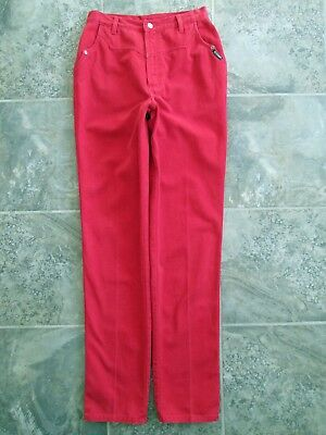 21b653d4e9c Womens Rockies Jeans 31 11 36 Tall Red Denim Authentic 28x36 Rodeo Cowgirl  Horse