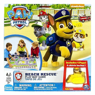 Paw Patrol Beach Rescue Play Mat Game Spin Master Nickelodeon Preschool Toy 3+
