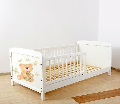 NEW WHITE- JUNIOR TODDLER  COT-BED 140x70 no 22 - INCLUDING FOAM MATTRESS