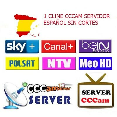 Cccam Cline 1 Año Servidor Privado -Estable Y Potente-