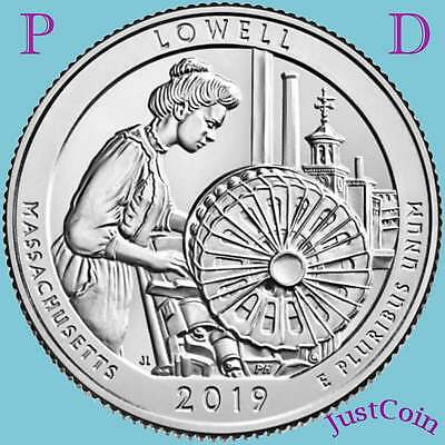 2019 P&d Lowell National Park (Ma) Two Uncirculated Quarters Set