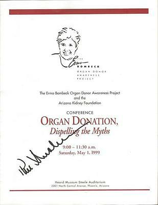 Phil Donahue Signed 1999 Organ Donation Conference Program