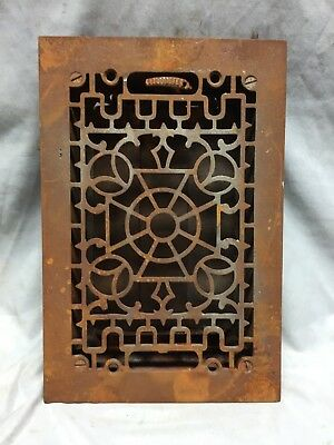 Antique Cast Iron Decorative Heat Grate Floor Register 6X10 Vintage 6-19C