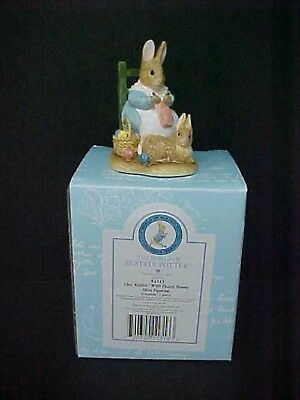 Beatrix Potter Mrs. Rabbit With Flopsy Bunny A1313 New Mint in Box