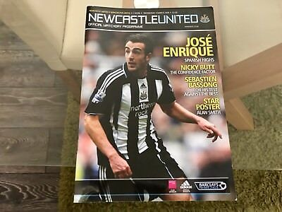 Newcastle United V Manchester United. March 2009 Match Programme.