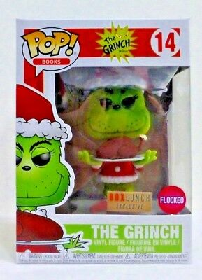 Funko POP! Books The Grinch 14 The Grinch Flocked Box Lunch Exclusive *NEW*