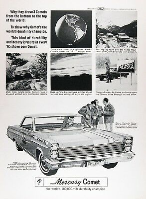 1965 MERCURY COMET CALIENTE Original Vintage Advertisement ~ 100K CHAMP