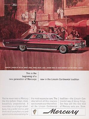 1965 MERCURY MONTCLAIR Sedan Genuine Vintage Advertisement