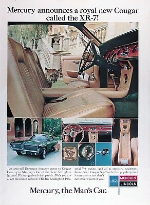 1967 MERCURY COUGAR XR-7 Original Vintage Advertisement ~ Car of the Year
